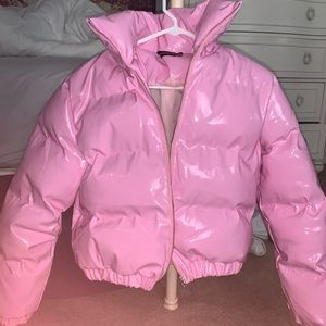 Bubble gum pink PRETTY LITTLE THING puffer jacket